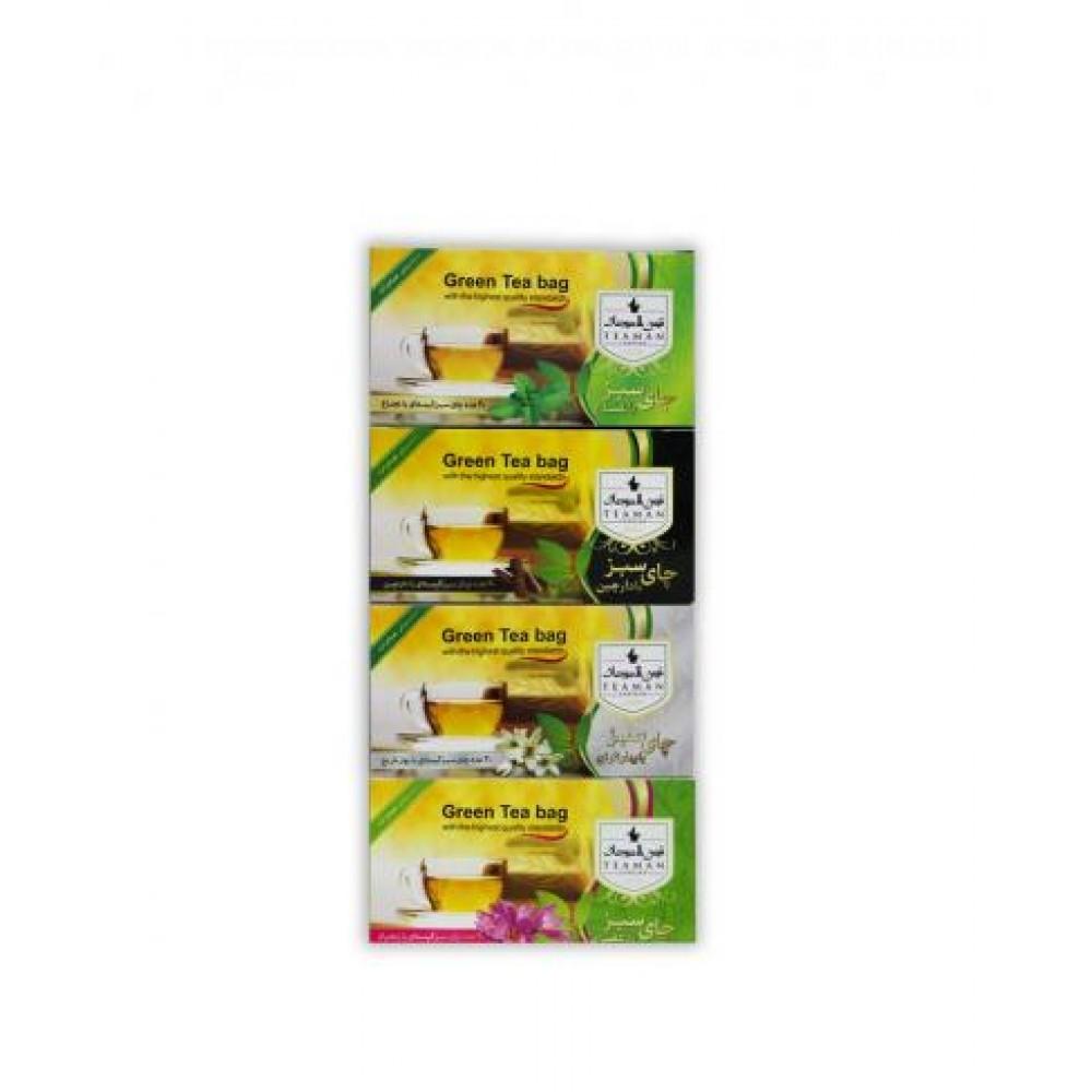 چای سبز کیسه ای دکتر بیز Dr Biz در 4 طعم